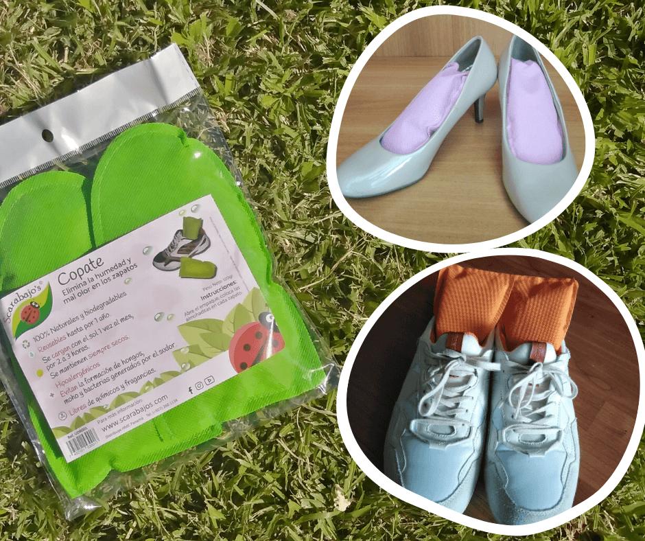 Eliminar mal olor en los zapatos copate